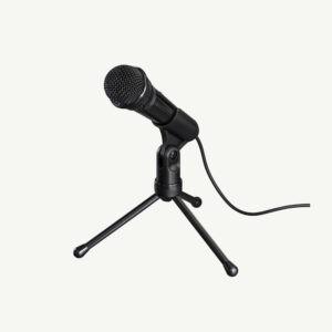 microfoon staand bureau voor audio en podcasts