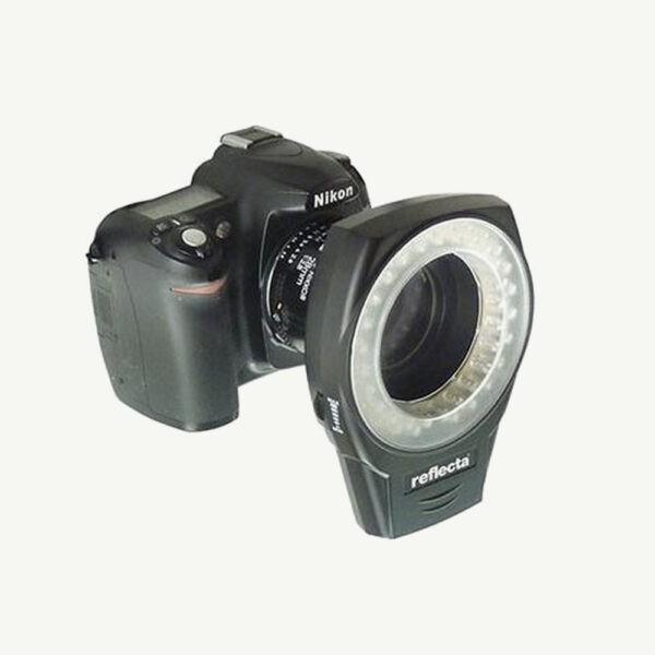 ringlight voor op je spiegelreflexcamera