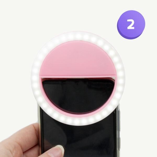 bloggerbox met selfielamp voor op je telefoon