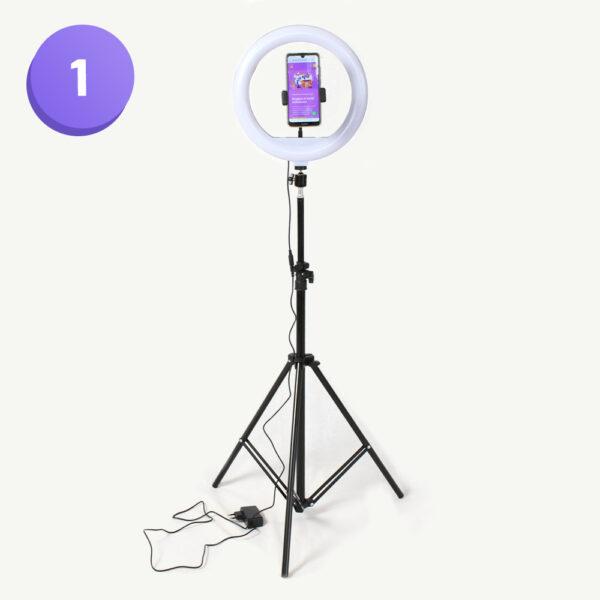 ringlight selfielamp social media box van webshop voor bloggers