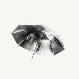 fotografie paraplu wit zilver